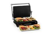 KLARSTEIN Buffalo grill contact pour panini & toasts - marbré - puissance 2000w - acier inoxydable noir&argent