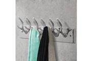 Vidaxl Crochets à vêtements de garde-robe 2 pcs argenté aluminium