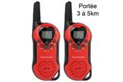 YONIS Set talkie walkie push to talk portée 3 à 5 km lcd 8 canaux pré-enregistré rouge - yonis