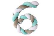 Plastimyr Twist tresse tour de lit bébé protection multifonctions 120 cm vert