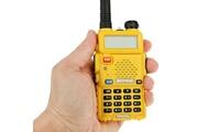YONIS Baofeng uv-5r émetteur récepteur radio bibande vfh/ufh fréquence modulable jaune - yonis