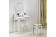 Paolo Collaner Très belle coiffeuse table de maquillage avec 2 tiroirs blanc