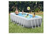 GENERIQUE Icaverne - piscines joli intex ensemble de piscine prism frame rectangulaire 400x200x100 cm
