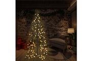 GENERIQUE Décorations de noël et saisonnières famille caracas arbre de noël cône 160 led d'intérieur/d'extérieur 78x120 cm