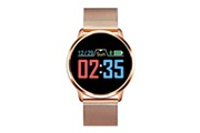 Justgreenbox Montre intelligente oled écran couleur smartwatch femmes mode fitness tracker moniteur de fréquence
