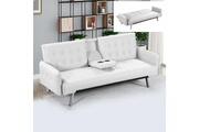Meubler Design Canapé clic clac convertible double 2 places bario - blanc