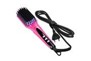 Acevivi Peigne lisseur cheveux électrique rose eu plug