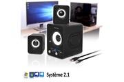 Soundphonic Pack d'enceintes pc advance soundphonic 2.1 - 6w rms