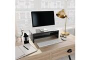GENERIQUE Meubles ligne abuja support de moniteur noir brillant 42 x 24 x 13 cm aggloméré