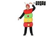Euroweb Costume pour enfants ver coloré (2 pcs) - un deguisement taille - 10-12 ans