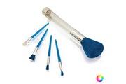 Euroweb Pack de 5 broches de maquillage - kit beauté idée cadeau couleur - bleu