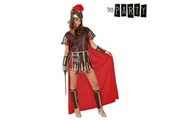 Euroweb Costume pour femme guerrière romaine marron rouge - un deguisment adulte taille - xl