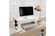 GENERIQUE Meubles gamme niamey support de moniteur blanc brillant 42 x 24 x 13 cm aggloméré