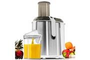 Euroweb Centrifugeuse à 3 niveaux de réglage xxl 1300w 950 ml acier inoxydable - extracteur de jus de fruits et légumes