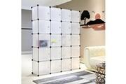Meerveil Armoire penderie portable, étagère de rangement, cubes de stockage modulaire en plastique en métal stable, assemblage facile pour vêtements, accessoi