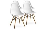 Pn Home Lot de 4 chaises scandinaves blanches style eiffel