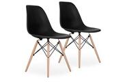 Pn Home Lot de 2 chaises scandinaves noires style eiffel