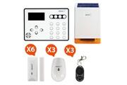 ATLANTIC'S Ateos - alarme de maison sans fil gsm kit 5 (md-326r)
