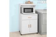 Sobuy Sobuy® fsb12-w desserte micro-onde à roulettes meuble de rangement cuisine