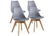 Pn Home Lot de 4 chaises scandinaves grises lorenzo