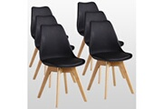 Pn Home Lot de 6 chaises scandinaves noires lorenzo