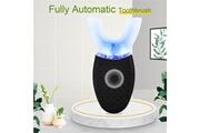 Ckeyin Brosse à dents électrique automatique ultrasonique lumière bleue 4 vibrations orales type u étanche+base de charge sans fil