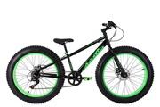 KS Cycling Vtt fatbike semi-rigide 24'' snw2458 noir-vert tc 33 cm ks cycling