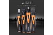 AUCUNE 4 en 1 tondeuse électrique nez/oreilles/barbe/sourcils rechargeable rasoir personnel pour homme