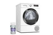 Bosch Sèche-linge hublot pompe à chaleur 8kg a++ tambour inox 112l 65db