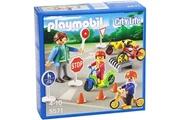 PLAYMOBIL Playmobil - 5571 - figurine transport et circulation - enfants avec agent de sécurité routière