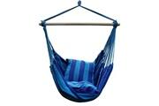 Justgreenbox Chaise balançoire portable hamac suspendue avec 2 oreillers pour jardin intérieur