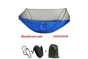 Justgreenbox Hamac à dépliage automatique, parachute ultraléger, moustiquaire de chasse, meuble d'extérieur double hauteur