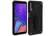 FORCELL Coque samsung galaxy a7 2018 protection hybride série phantom by forcell noir