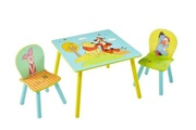 Pegane Ensemble enfant table et 2 chaises motif winnie l'ourson -pegane-