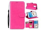 Generic Luxe slim en cuir flip couverture wallet card pour lg aristo 2 5.5 pouces hp phone case 1238