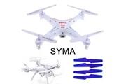 Generic 4pcs hélices lames accessoires pièces de rechange pour syma x5c x5sc x5sw avion drone