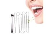 Ckeyin 8pcs outils dentaires par set en acier inoxydable détartreur à crochet pince kit de nettoyage des dents avec étui