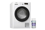 Whirlpool Sèche-linge frontal hublot condensation 8kg b freshcare+ tambour inox 120l