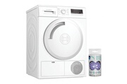 Bosch Sèche-linge frontal blanc condensation 8kg b tambour 112l auto dry anti-pli
