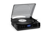 Auna Tt-186 platine vinyle 2 vitesses préamplifiée avec fonction bluetooth - radio fm dab dab+ - noir