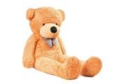 Mamabrum Ours en peluche 200 cm géante xxxl nounours doux pour petits & grands cadeau câlin & anniversaire certifié ce (marron clair)
