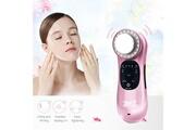 Ckeyin Instrument de soins du visage électronique ultrasonique photon thérapie anti-âge éliminer les rides appareil de massage facial(rose)