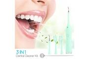 Ckeyin Dentaire anti-taches dissolvant de tartre professionnel électrique sans fil sonique nettoyage des dents + miroir de bouche(vert)