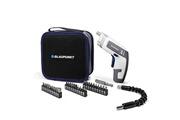 Blaupunkt Visseuse dé-visseuse sans fil compact cd2000 batterie li-ion avec afficheur led, dc 3,6v 1300 mah, chargeur usb, 250 rpm, led, accessoires, sac