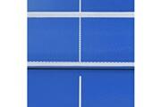GENERIQUE Icaverne - tables de ping pong stylé table de ping-pong avec filet 152x76x66 cm bleu