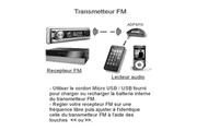 Lineaire Icaverne transmetteur fm de voiture adfm10 emetteur fm / jack 3.5mm
