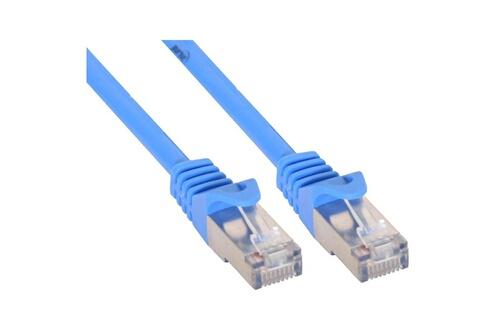 InLine Câble patch, s-ftp, cat.5e, bleu 0,25m, inline®