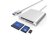 Alpexe Alpexe lecteur de carte sd/micro sd/tf/cf usb c, adaptateur de carte mémoire otg pour rockbook usb 3.0 type c otg pour macbook,