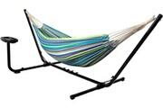 Vita5 Vita5 hamac avec support (double en coton) - avec porte-gobelet - pour 2 personnes / 205 kg, 241 * 160 - sac de transport inclus (blue/vert)