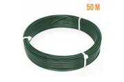 Linxor Fil d'attache en acier galvanisé plastifié pour grillage ou autre - 50 m x 1.5mm ø - vert